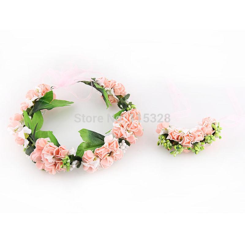 Free Shipping 1pcs 2014 New Bridal Girl  Sunflower Artificial  Fabrics Silk Elastic Wedding Flower Crow Headband For  Women(China (Mainland))