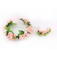 Free Shipping 1pcs 2014 New Bridal Girl  Sunflower Artificial  Fabrics Silk Elastic Wedding Flower Crow Headband For  Women