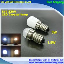 Новый продукт E14 2W 3W Холодильник светодиодного освещения мини 220В лампы ~ 240 Яркий закрытый светильник для холодильник с морозильной камерой , 1шт / серия(China (Mainland))