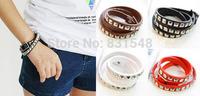 free shipping 2014 summer new fashion Punk retro lovers square rivet cuff Watch strap bracelet NO O74
