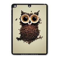 Lovely Coffee Owl Funny Protective Black Hard Shell Cover Case For iPad 5 Air/iPad Mini/iPad 2 3 4  P43