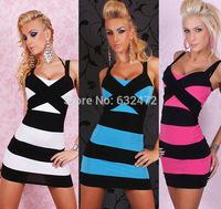 Free shipping 2014 women's Sexy Night Sling nightclub dress party evening prom dresses vestidos de fiesta