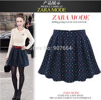2014 Summer New Women in Europe and America Pleated Skirt Puff Skirt