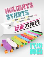 "DIY Pastel Color Penny Style 22"" Complete Backpack Mini Long Board Boy Girl Retro Cruiser Skate Fish Long Board Skateboard A0218"