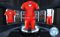 2014 NEW  Slim Fit Red The Amazing Iron Man Bicycle Cycling Kits Wear Jerseys Shorts Suit + Bib Pants SIZE:M/L/XL/XXL
