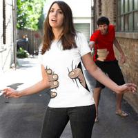 New Big Hand t shirt!Man /womens T-Shirt Printing Hot 3D visual creative personality spoof grab Cartoon Men's Shirt