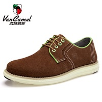 VANCAMEL 2014 men's everyday casual shoes, Korean version of the popular suede shoes, spell color men's shoes
