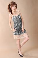 2014 New Fashion Summer Casual Cotton Blend Tank Dress Women Floral Printed Dresses Sleeveless Mini dress Free Shipping 850442