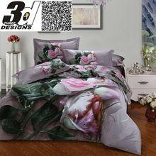 Rei queen size cama de casal lençóis 3d Flores cama situado a 100 algodão edredão edredão / comforter / sets fronha folha colcha(China (Mainland))