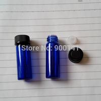 Cobalt blue 15*45MM 4ml glass vial with orifice reducer screw plastic cap, 1 dram glass vials, glass bottles, 144pcs