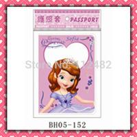 Free Shipping Princess Sofia passport holders 100pcs/lot passport covers Card holders