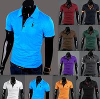 summer 2014 New Men's Casual brand fitness Short-Sleeve Shirt Cotton T-shirt M-XXL man t-shirts outdoor sports outwear clothing