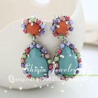fashion personality and colorful elegant women Full handmade earrings