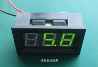 Free shipping>V27T-DL 2.5-30V green character two line digital display digital voltmeter (D3B2)