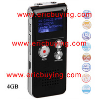 Portable Double Channels 8GB Digital Voice Recorder with 128 x 68 LCD Screen (Black)