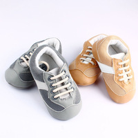 Summer Gold Sliver Sport Football Walking Skidproof Soft Outsole Baby Boy Toddler Shoes BS0102