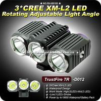 2014 New Trustfire TR-D012 3000Lm 3*CREE XML-L2 LED Bicycle Bike Headlight Torch Light ,FreeShipping