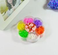 3sets new 2014 Petals box  Diy  loom kit box Loom rubber bands Kit knitting machines
