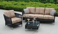 2015 New Products Sardinia Outdoor Furniture Poly Rattan 4 Seater Patio Sofa Set