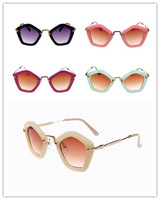5 Colors Multi-color Lenses Alloy Goggle Kid's Sunglasses for Boy and Girl Fashion Eyewear 2014 New Style #28
