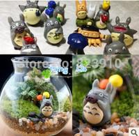12 mini hayao miyazaki totoro furnishing articles Moss micro landscape bonsai gardening meaty plant