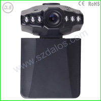 F198 Car DVR Car black box with 2.5 TFT LCD screen. 120 degree angle and 270 degree rotating screen.F198 6 LEDS for IR DVR-