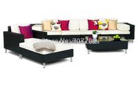 7 Piece All Weather Patio Furniture Rattan Garden Sofa & Table Set