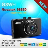 G3WH Novatek 96650 Car DVR Video Recorder 1920x1080P 30FPS Full HD H.264 170 Degree Wide Angle IR Night Vision G-sensor WDR