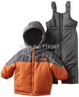 Free Shipping - retail children kids boys/girls snowsuit, kids ski suit, kids windproof jacket with pants(MOQ: 1 set)