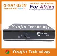 Q-SAT Q23G,Hot sale africa dstv gprs iks q-sat q11g q116 q-sat decoder dstv Azsky G6 dongle q116