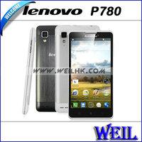 Original Lenovo P780 Quad Core Cell Phone 1G RAM 4G ROM With 5.0Inch IPS Gorilla Glass Screen 8.0MP Camera 3G MTK6589 Phones