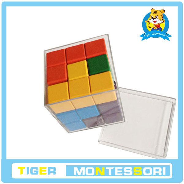 wholesale wood educational toy Soma puzzle cube 3*3*3 soma cube(China (Mainland))