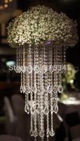 Free shipment /10PCS/lots /crystal wedding centerpiece/90cm tall/30cm diameter