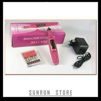 Free shipping 1Set Pedicure Bits 20000 RPM Electric Nail Drill art Pen Professional Electric Manicure Machine 100V~240V EU Plug