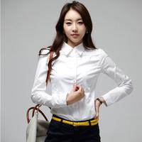 Summer Shirts For Women Fashion Blouse Elegant Long Sleeve Shirt OL Women Office Shirt Ladies White Blouses