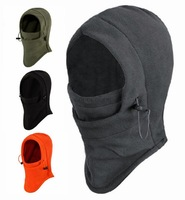 New 2014 6 in 1 Thermal Fleece Balaclava Motorcycle Cycling Winter Swat CS Ski Neck Hoods Full Face Mask Cover Hat Cap