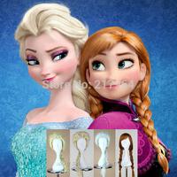 New Cartoon Movie Frozen Snow Wig Queen Anna Elsa Wig Long Braid Cosplay Anime Wig ponytail Classic Halloween Hair