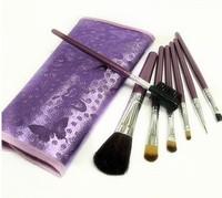 [min 10 $] 2014makeup brush / BENJI seven brush purple golden Professional 7 brush sets (gift pack) free shipping