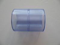"clear pvc coupler with size 1/2""  SCH80"