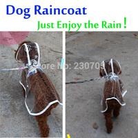 Pet products dog clothes puppy clothing transparent color waterproof dogs raincoat rainsuit dog rain cape