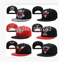 1pc/lot  2014 Hot Sale Unisex Crazy Bull BBOY Snapback Hip Hop Cap Baseball Skateboard Hat YS9271