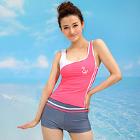 Women Sport Swimwear Slim Shaper Split Swimsuit