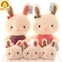 25cm free shipping wholesale stuffed toy plush toy soft baby doll qmates birthday gift cute baby bunny rabbit butterfly