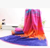 New Arrival 3piece set Towel set 100% Cotton=1pc Bath towel 70x140cm + 2pcs Big face towels 35x82cm Wedding gifts