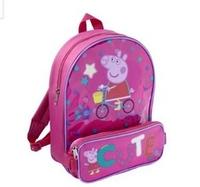 2014 New George Children School Bag Peppa Pig Cartoon Animal Kids Backpack Baby Schoolbag Retail
