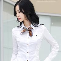 Brand Camisas Femininas Women Blouses 2014 Summer Tops Black White Shirts Long Sleeve Shirt Women China Air Express