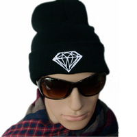 Free Shipping 2014 New Fashion Leisure Diamond Beaines Men And Women Fashion Outdoor Hats,4colors,Wholesale Knitted Caps