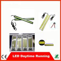 5 pairs 6W Flashing waterproof DC 12V 17cm 6w White 2 pcs/Pair led daytime running light LED Strip for motorcycle car Lights