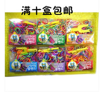 Hot-selling 2014 rainbow knitted bracelet hand-rope knitted hand ring rubber band diy handmade bracelet