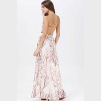 2014 Spaghetti Strap Back Cross Digital Print Long Design One-piece Dress Maxi Dress Beautiful Design Factory Dropshipping